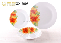 GUIXIN 12-piece Round Family Porcelain Dinner set with Flower decal