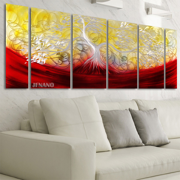 Unique Wall Decor Aluminum Metal Painting Wall Art Flower Acrylic