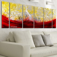 Unique Wall Decor Aluminum Metal Painting Wall Art Flower Acrylic Painting