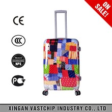 Free Print ABS/PC luggage beautiful color multi-usage traveling bags with trolley handle