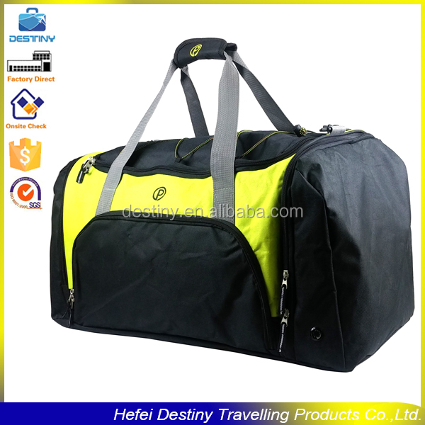 multiple pockets fashion waterproof expandable sport washable duffle bag