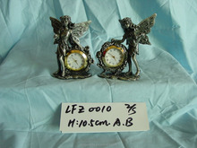 Metal gift wholesale price pewter decoration antique clock