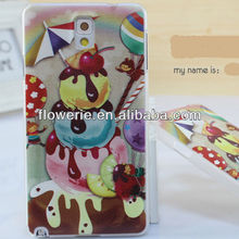 FL3125 2013 Guangzhou high quality Ice Cream Pc Hard Phone Case for samsung galaxy note 3 n9000