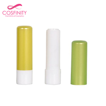 New design factory price green transparent lip balm container packaging cardboard empty plastic lip balm tube