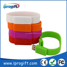 2016 Factory wholesale best Promotional gifts Customized logo colorful Bracelet USB Flash Drive 1GB 2GB 4GB 8GB
