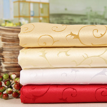 100% polyester jacquard wedding table cloth nappe fabric