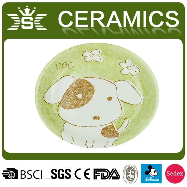 2017 Animal Shape Baby Products Ceramic Pig Plates