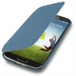 Gravel Texture Scrub Horizontal Flip Leather Case for Samsung Galaxy S IV / i9500