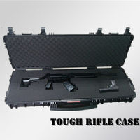 2015 New Hard plastic waterproof Lockable Tactical military Rifle Case with wheels,shot gun case