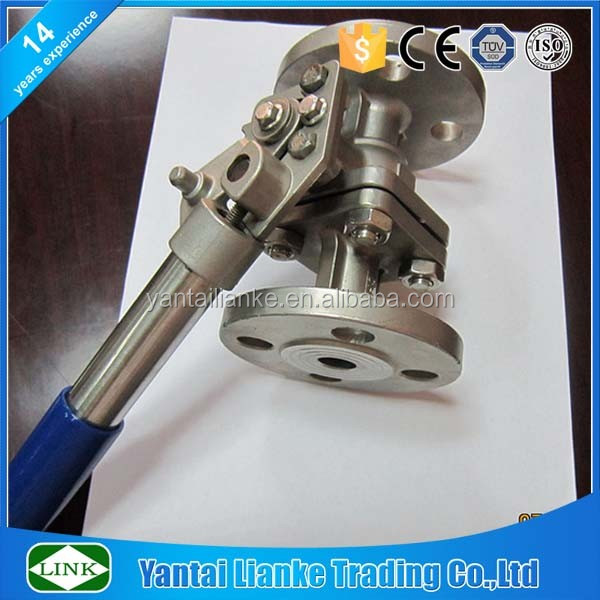 stainless steel 304 spring return handle flanged end ball valve