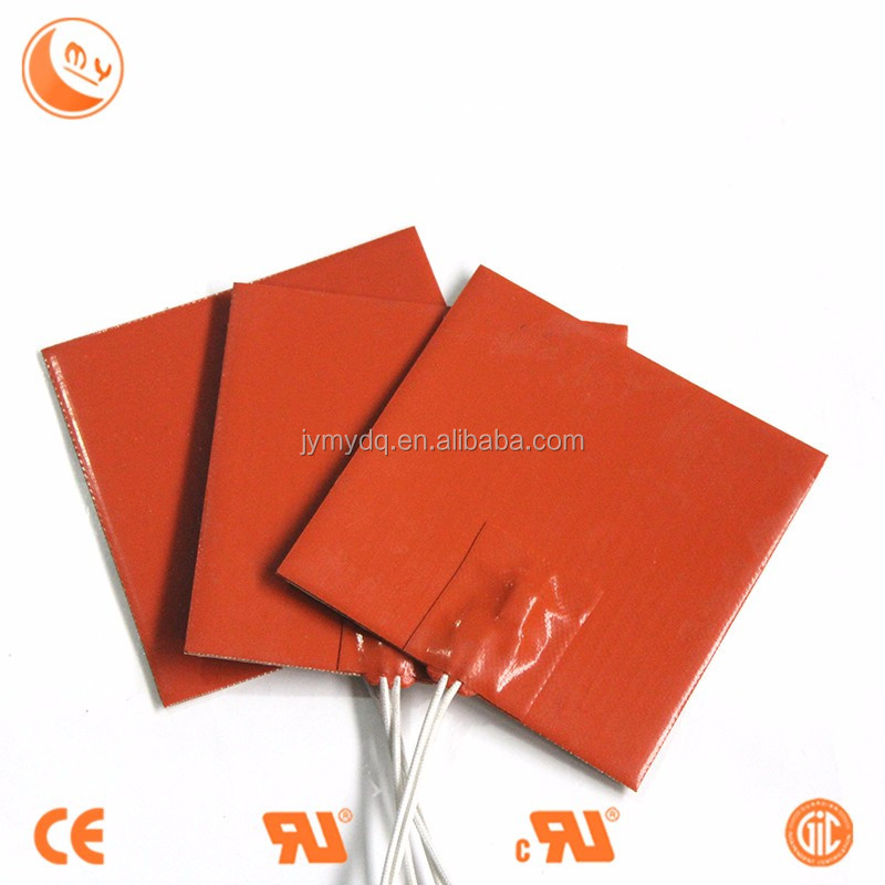 110v Silicone Rubber Electric Heating Pad/Sheet with 3M glue,Professional custom make all kinds of silicone rubber heater