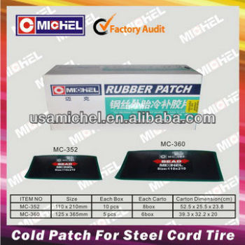 Steel Cord Tyre Cold Patch