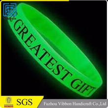 Silicone bracelet for promotional gift,silicone child bracelet,custom wristband bracelet glow in the dark