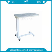 AG-OBT002 CE&ISO adjustable hospital furniture over bed table
