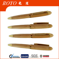 2015 new design High quality mini wooden ball pen