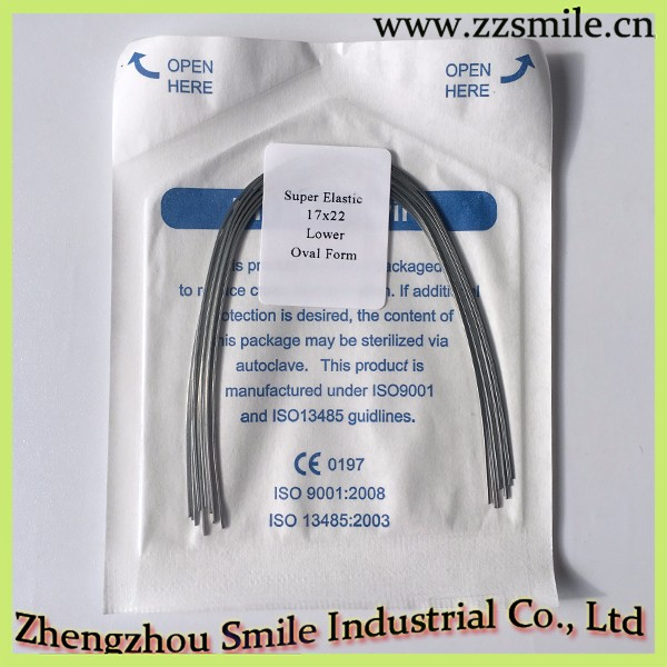 CE approved Super elastic /High quality Orthodontic niti wire/Dental Orthodontic Rectangular Archwires