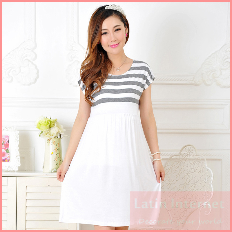 Buy Maternity Dress Casual Cotton Summer Dress Maternity Wear Plus ...
