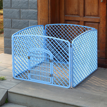 4-Panels Plastic Portable Dog Fence