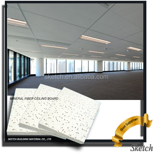 600x600 China Mineral Fiber Acoustic False Ceiling