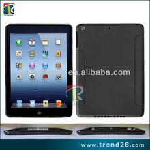 vibrant solid black tablet computer tpu case cover for Apple ipad 5