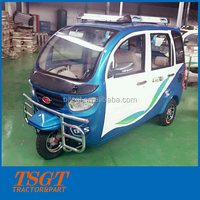 car structure closed cabin petrol type three wheeler for passengers use