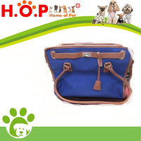 Pet Accessories Canvas Dog/Cat Luxury Carrier Blue Tote Bag