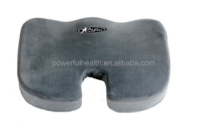 Comfort Contoured Foam Coccyx Seat Cushion with Non Slip Cover