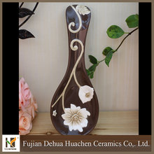 factory wholesale cheap ceramic custom spoon rest