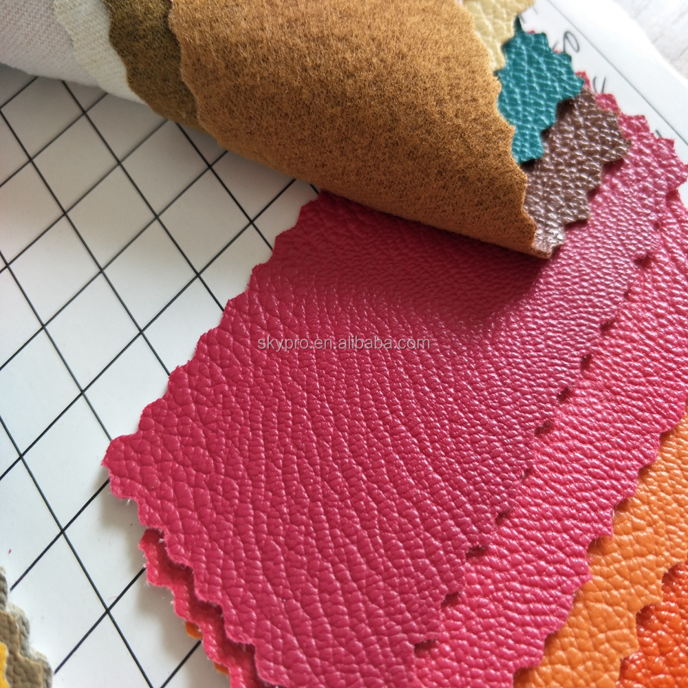 Wholesale various pattern pvc artificial leather coated fabric
