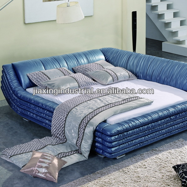 modern luxury platform leather beds JX807
