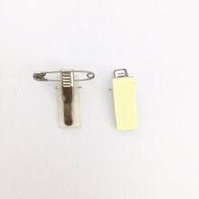 Promotion Custom Metal ID Badge Clip with Safety Pin