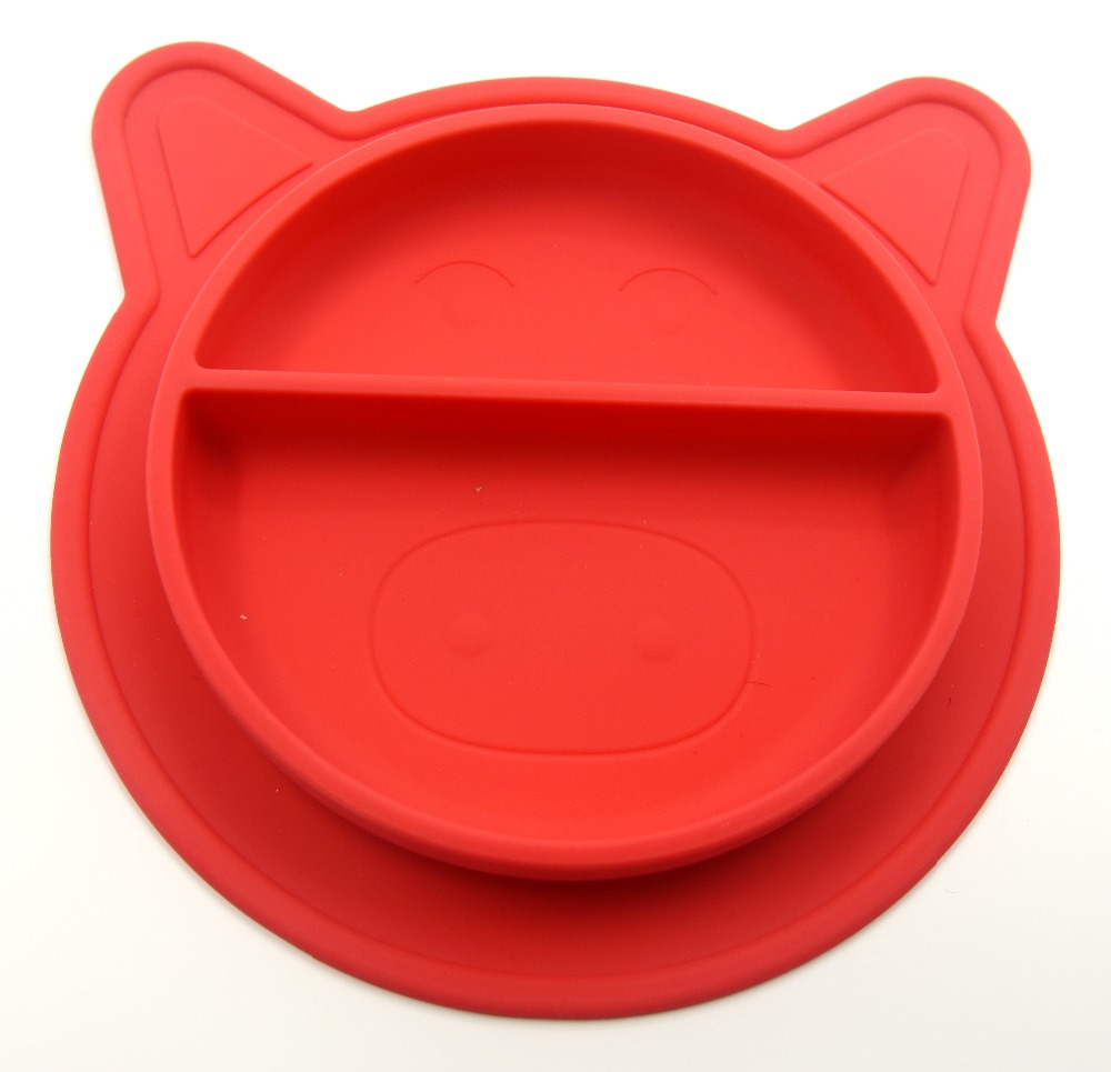 Factory Direct Silicone Baby Divided Plates,BPA Free Suction Silicone Placemats for Toddlers Kids