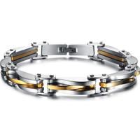 Men Jewelry Punk Rock Stainless Steel Bracelet Silver Golden texture Link Chain Bracelets for men as gifts wholesale GS681