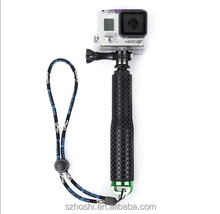 Aluminum gopro selfie stick with Mount Adapter for GoPro Hero 4 3+ 3 2 1 HD SJCAM SJ4000 Xiaomi Yi monopod