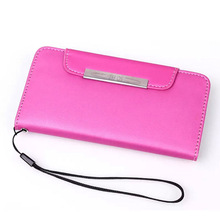 Leather Wallet Hand Strap Cell Phone Cover for i6 case