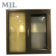 China customized nice price double glazing aluminum window and door frame, tilt and turn aluminum casement window
