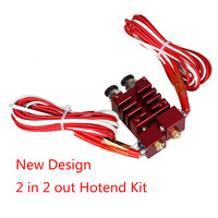 3D Printer Prusa i3 E3D Chimera 2 In 2 Out Hotend Kit with Thermistor and Cartridge Heater 3D Printer China