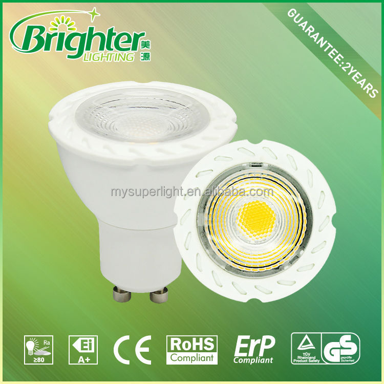 Super brightness SMD led spotlight 5W GU10 smd 2835 gu10 dimmable