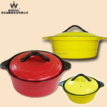 2015 Chaozhou ceramic cookware hot pot enamel unique products to sell in nigeria to keep food warm