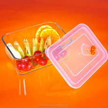 Rectangular vacumn glass food storage box / heatable glass container