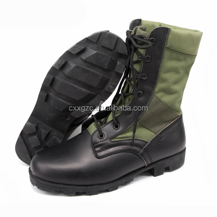 Military Black Leather Tactical Combat Army Jungle Boots