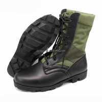 Military Black Leather Tactical Combat Army