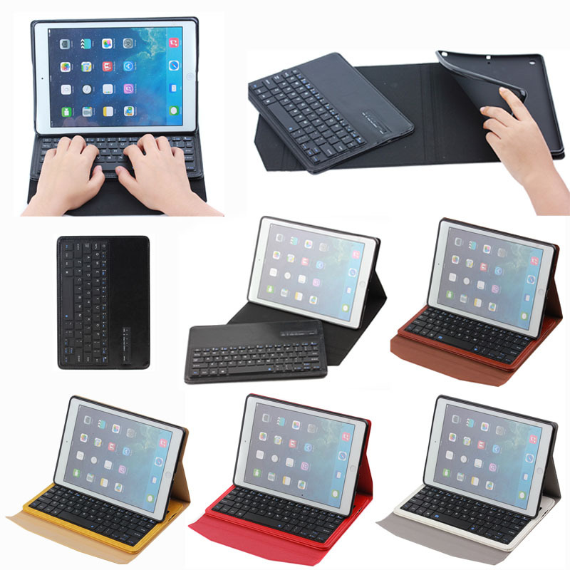 High Quality Crazy Horse PU Leather Bluetooth Keyboard Case for iPad Air,For iPad Air Keyboard Case