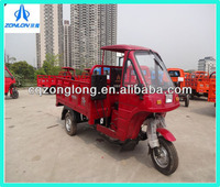 Motorized cargo tricycle with canopy