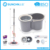 Bigger bucket & bigger mop head & stronger pole magic mop, good choice for townhouse and office
