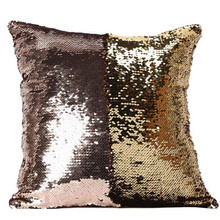 Home Decor Pillow Case 40 x 40 cm Sequin Cover DIY Magic Colors Change Cushion Cover