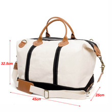 Oversized Heavy Duty Canvas Weekender Bag Canvas Duffle Bag Leather Canvas Bag