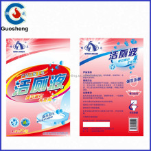 Colorful printing toilet cleaner bottle packaging sticker label