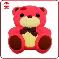 Red Cute Animal Silicone 3D Teddy Style 3D Bear Case for iphone 4