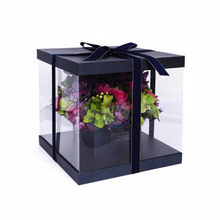 Wholesale Clear Plastic Preserved Bouquet Luxury Flower Box